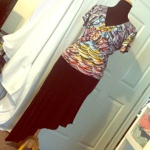Torrid Black Asymmetric Maxi Skirt